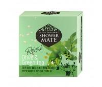 Shower Mate Оливки и зеленый чай Мыло 100г