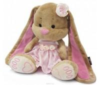 Зайчик Лин в розовом платье 25 см